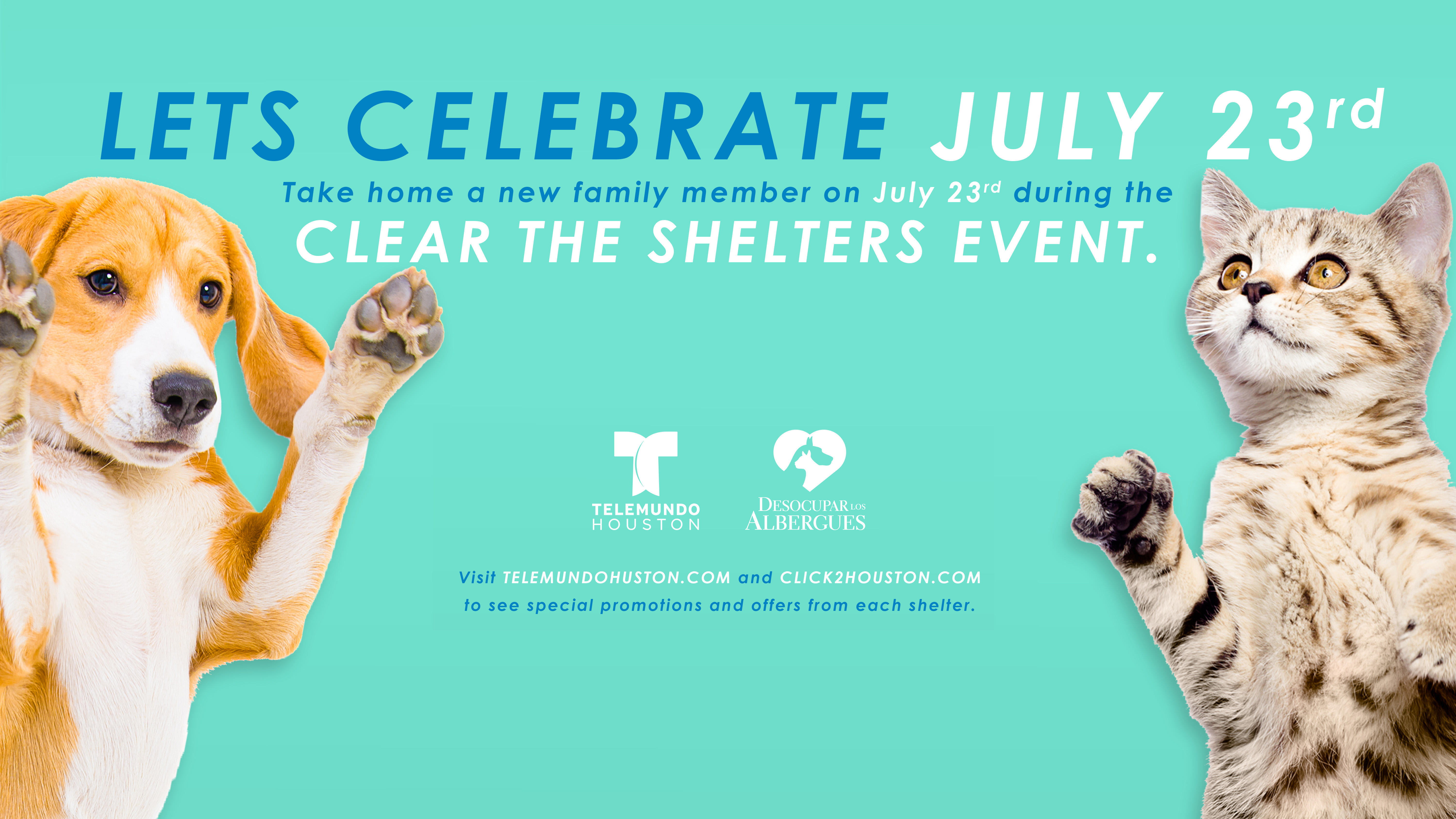 Help us Clear the Shelters July 23rd!